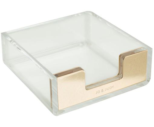 Zettelbox Golda, Transparent, Goldfarben