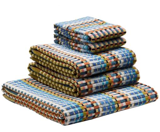 Set asciugamani Walbert, 5 pz., Multicolore