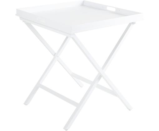 Dienbladtafel Vero, Gecoat aluminium, Mat wit, 60 x 70 cm