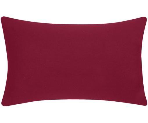 Baumwoll-Kissenhülle Mads in Rot, Baumwolle, Rot, 30 x 50 cm
