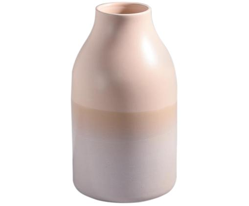 Vaso dipinto a mano Marisa, Terracotta, Rosa, sabbia, Ø 14 x Alt.25 cm
