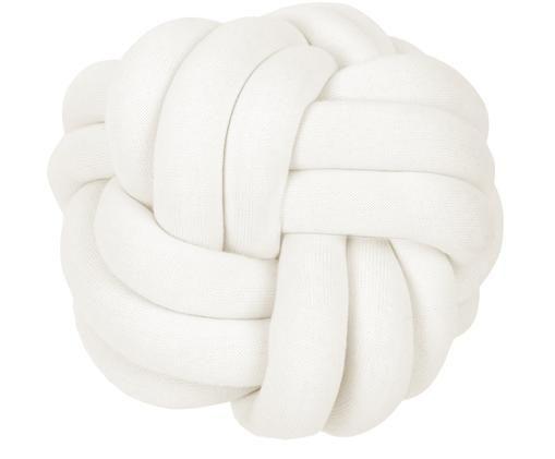 Knoten-Kissen Twist, Weiß, Ø 30 cm