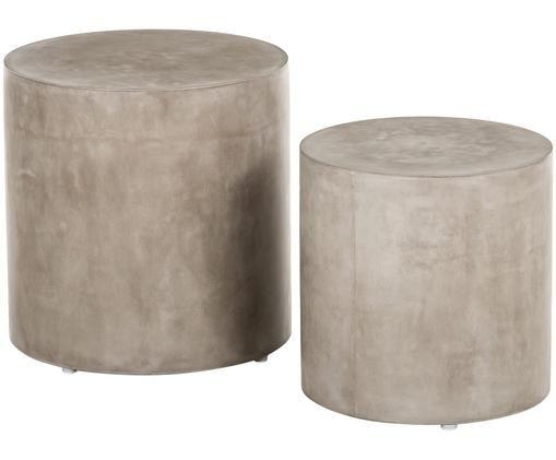 Komplet stolików pomocniczych Ito, 2 elem., Beton