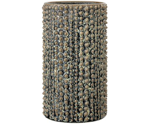 Keramik-Vase Frog, Keramik, Braun, Grün, Ø 11 x H 21 cm