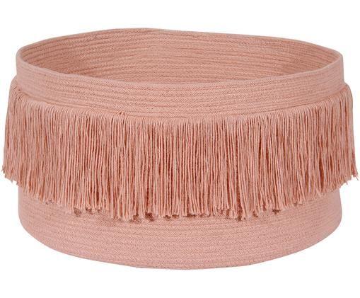 Aufbewahrungskorb Sahara, 97% Baumwolle, 3% recycelte Baumwolle, Pfirsichfarben, Braun, H 25 x Ø 45 cm