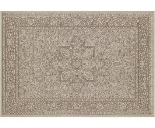 In- und Outdoorteppich Anjara im Vintage Look, Polypropylen, Taupe, Beige, B 140 x L 200 cm (Größe S)
