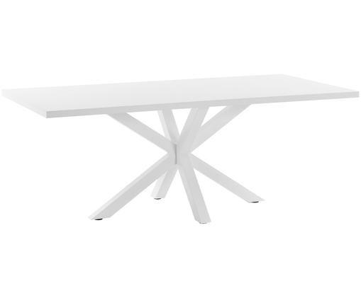 Tavolo da pranzo New-Arya, Legno, metallo, Bianco, Larg. 160 x Prof. 100 cm
