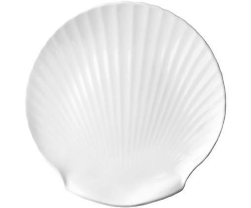 Piatto da portata Fine Bone China Shell, Bianco