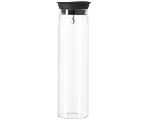 Große Karaffe Brioso, Glas, Silikon, Transparent, 1.1 L