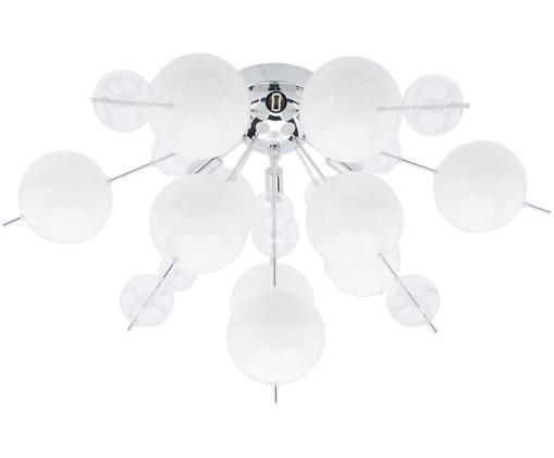 Deckenleuchte Explosion, Chrom, Weiß, Ø 57 x H 38 cm