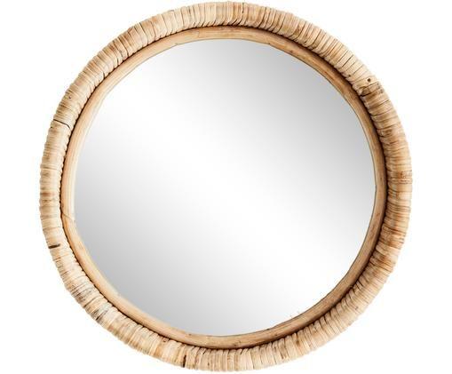 Lustro ścienne Björn, Drewno bambusowe, Ø 30 cm