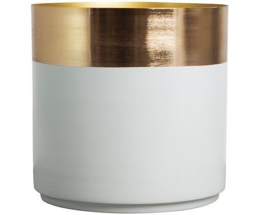 Osłonka na doniczkę Aria, Stal częściowo lakierowana, Odcienie złotego, jasny szary, Ø 25 x W 25 cm