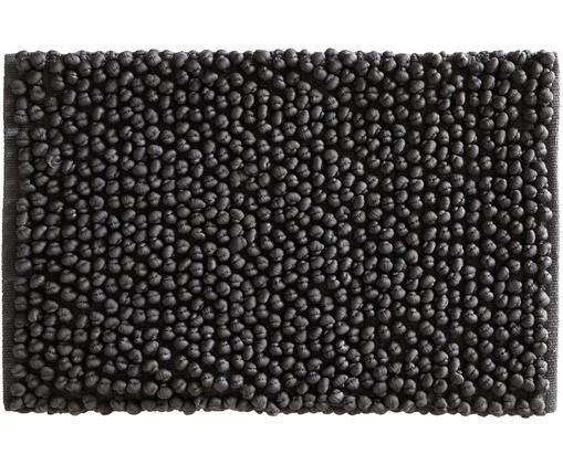 Alfombrilla de baño Hills, Algodón, Gris antracita, An 50 x L 80 cm