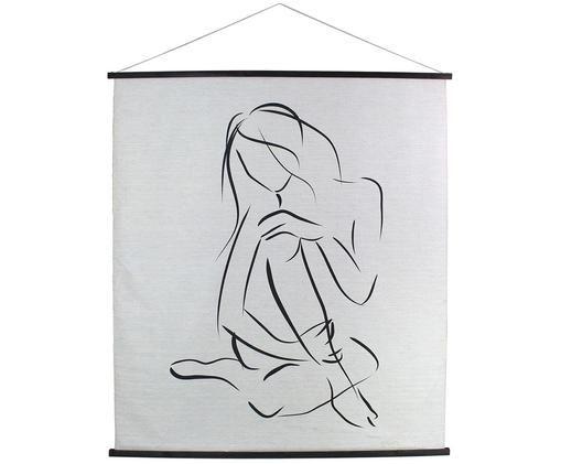 Decorazione da parete Sweetwater, Immagine: cotone, Bianco, nero, Larg. 140 x Alt. 170 cm