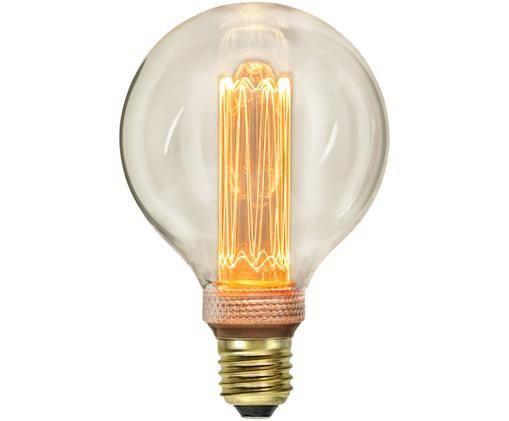 Dimmbares XL LED Leuchtmittel New Generation (E27/ 2.5Watt), Leuchtmittelschirm: Glas, Leuchtmittelfassung: Messing, Bernsteinfarben, Ø 10 x H 15 cm