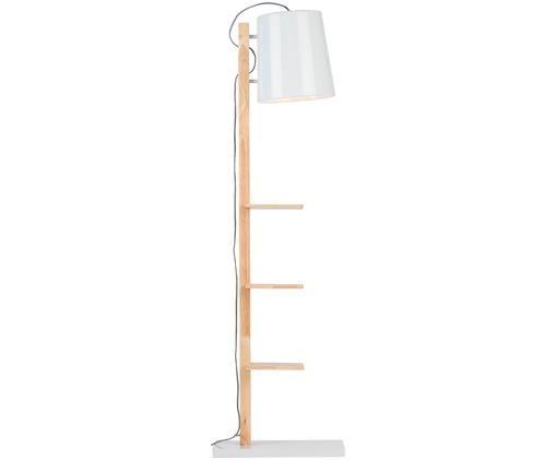 Lampada da terra Cambridge, Bianco, legno