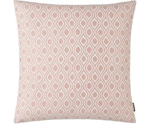 Poszewka na poduszkę Peppino, 51%wiskoza, 25%poliester, 15%len, 9%bawełna, Blady różowy, kremowy, S 40 x D 40 cm