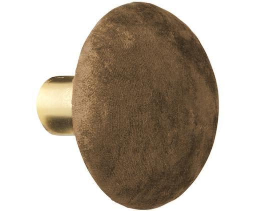 Hak ścienny z aksamitu Helene, Odcienie mosiądzu, brązowy