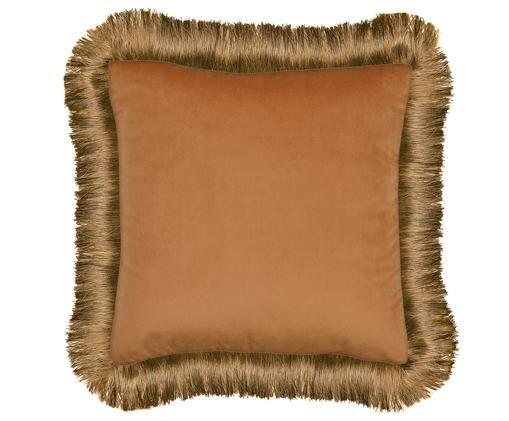 Poduszka z wypełnieniem Fringes, Poliester, Pomarańczowy, S 45 x D 45 cm