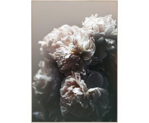 Gerahmter Digitaldruck Baroque I, Bild: Digitaldruck auf Papier (, Rahmen: Hochdichte Holzfaserplatt, Schwarz, Weiß, Rosa, 50 x 70 cm