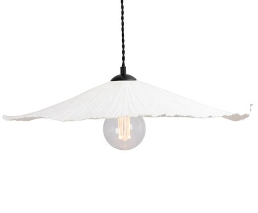 Pendelleuchte Tropez, Lampenschirm: Papier, Weiß, Schwarz, 60 x 10 cm