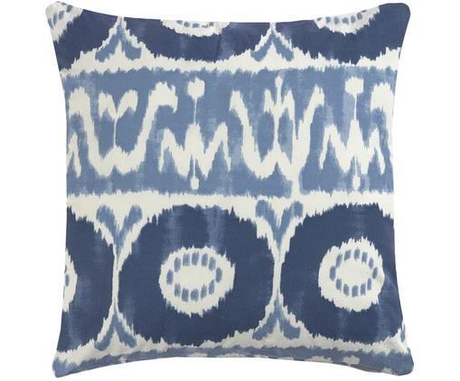 Poszewka na poduszkę Vinilo, Bawełna, Niebieski, biały, S 45 x D 45 cm