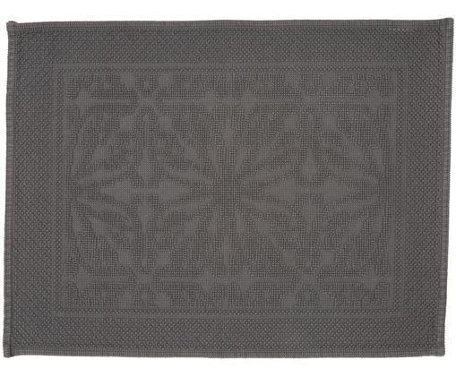 Badvorleger Hammam mit Hoch-Tief-Muster, Baumwolle, schwere Qualität, 1700 g/m², Dunkelgrau, 60 x 80 cm