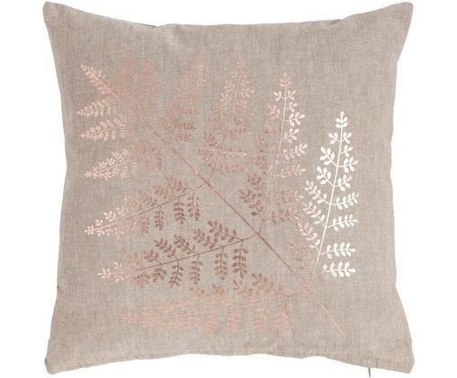 Cuscino con imbottitura Big Fern, Rivestimento: cotone, Sabbia, rame, Larg. 45 x Lung. 45 cm