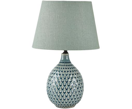 Lampada da tavolo Aqua, Blu, crema, grigio