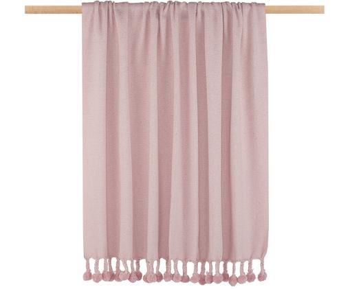 Plaid Sorbet, Gerecycleerd materiaal uit de mode-industrie in verschillende kleuren 100% katoen, Roze, 130 x 186 cm