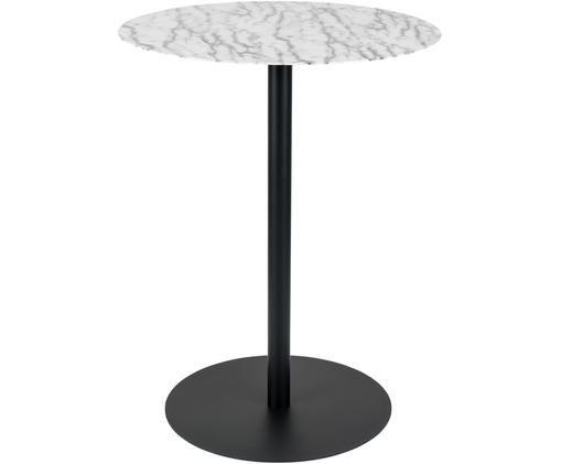Table de bistro ronde en métal Snow, Noir, blanc