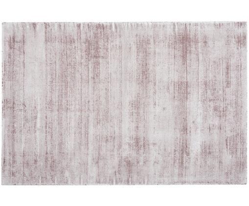 Handgewebter Viskoseteppich Jane, Flor: 100% Viskose, Flieder, B 160 x L 230 cm (Grösse M)
