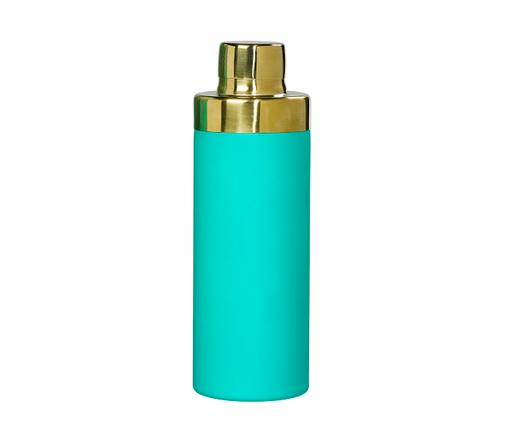 Shaker à cocktailTropicalTopaz, Turquoise, couleur dorée