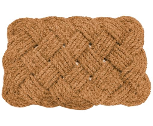 Tappeto Knot, Beige, Larg. 38 x Lung. 63 cm