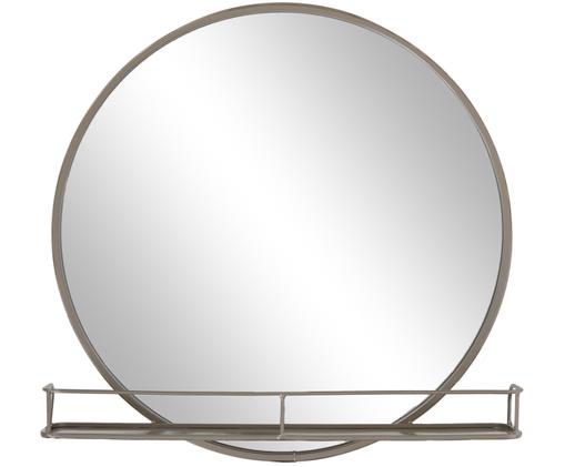 Wandspiegel Tray, Rahmen: Metall, lackiert, Spiegelfläche: Spiegelglas, Grau, Ø 50 x T 13 cm