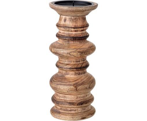 Kerzenhalter Stili, Holz, Braun, Ø 10 x H 25 cm