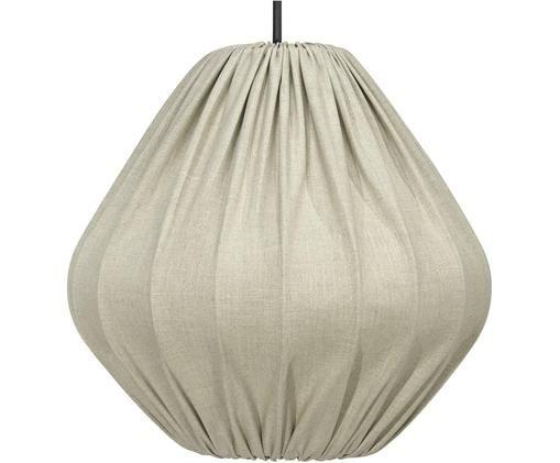 Lampa wisząca z lnu Malou, Beżowy, Ø 40 x W 38 cm