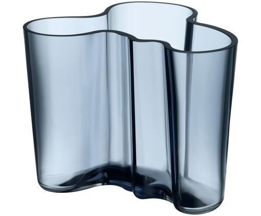 Vaso Alvar Aalto, Vetro, Pioggia blu, Alt. 12 cm