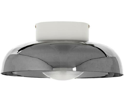Plafonnier design en verre Vintage, Gris, métal