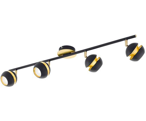 Riel Nicito, Acero pintado, Negro, dorado, An 76 x Al  16 cm