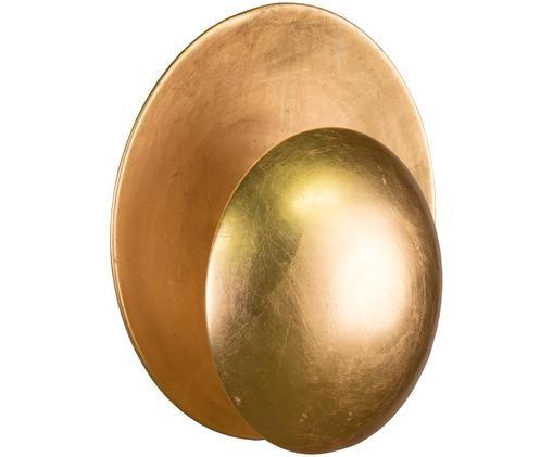 Applique Orbit, Metallo, coperto con foglia d'oro, Dorato, Ø 30 x Prof. 15 cm