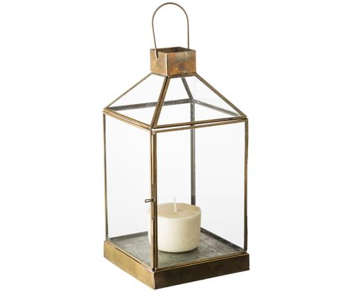 Lanterna in vetro Aladin, Struttura: metallo rivestito, Bronzo, Larg. 15 x Alt. 30 cm