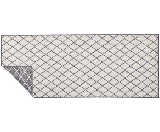 In- und Outdoor-Wendeläufer Malaga in Grau/Creme, Grau, Cremefarben, 80 x 250 cm