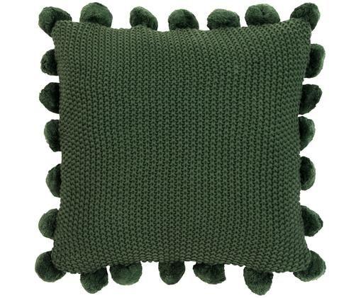 Federa arredo in cucitura a maglia Molly, 100% cotone, Verde scuro, Larg. 40 x Lung. 40 cm