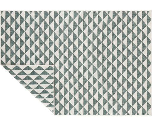 In- & Outdoorteppich Tahiti im Ethno Style, Polypropylen, Grün, Cremefarben, B 120 x L 170 cm (Größe S)