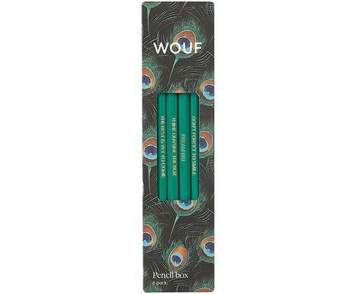 Set matite Peacock, 6 pz., Multicolore