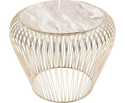 Tavolino in marmo XS Beam con piano in marmo, Grigio