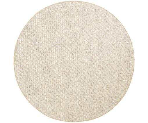 Runder Teppich Lyon mit kleinen Stoffkugeln, Flor: Polypropylen, Creme, melangiert, Ø 133 cm