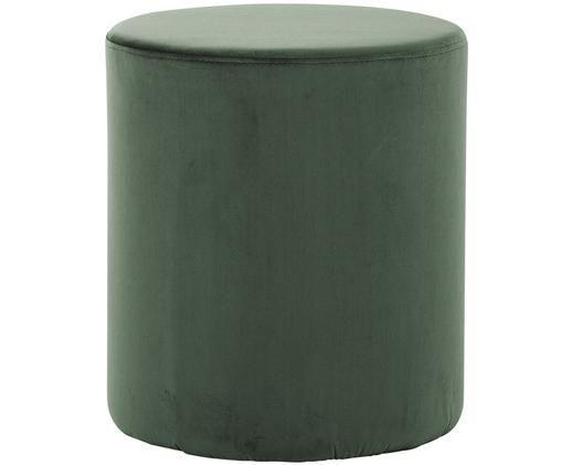 Puf de terciopelo Daisy, Tapizado: terciopelo (poliéster) 15, Estructura: tablero de fibras de dens, Verde claro, Ø 40 x Al 46 cm