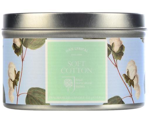 Bougie parfumée Tin (coton), Bleu ciel, vert